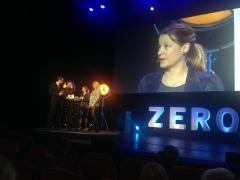 Styremedlem i Norsk Gjenvinning, Ylva Lindberg, snakket om bærekraft.