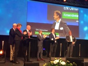Fv: Nancy Strand, Pål Sommernes, Lars A. Lunde, Heikki Holmås, Åsmund Aukrust, Erik Osmundsen