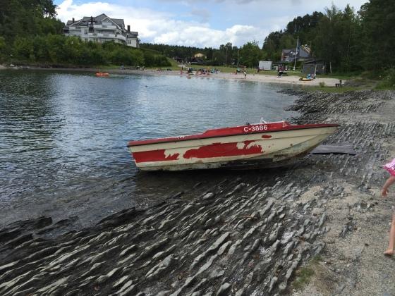 På en strand i Asker..