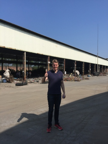 Erik på råvarebesøk i Kina